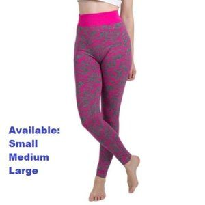 Gray with Pink Camouflage Yoga Pants